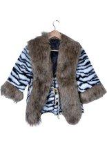 Astar Stylish Trench Lady's Faux Fur Collar SCoat Jacket()