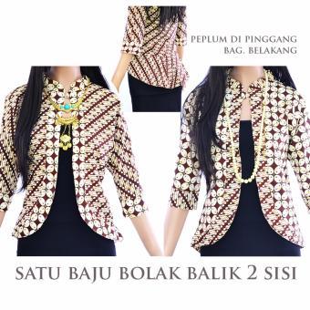 Harga Atasan Batik Blus Cardigan Blus Bolero Jas La188 Pricenia Com