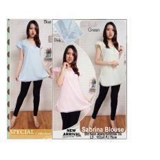 Promo Atasan Blouse Kemeja Jeans Wanita Jumbo Vita Biru Tua Source Atasan blouse .