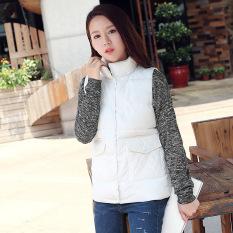 Autumn And Winter Women New Korean Version Of Cotton Vest (White) - Intl