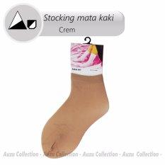 Auzu - Stocking Mata Kaki - Cream Polos - Pendek Diatas Mata Kaki - Kaos Kaki Wanita [Cream]