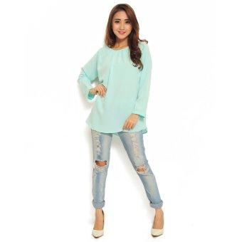 Ayako Fashion Atasan Wanita ayako fashion blouse shasa biru lazada indonesia