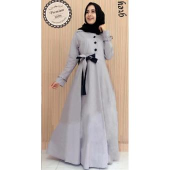 Ayako Fashion Dress Maxi Elena - (Grey) | Lazada Indonesia