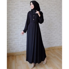 Ayako Fashion Long Sleeve Maxi Hilda (Hitam)