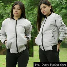 Chrystion Bomber Jacket Wanita Lengan Panjang Sablon LEAF Chic Fashion.  Source · AzamClobber - Jaket d5556bc630