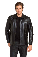 Azena - Jaket Kulit Bikers Hitam TH - 107