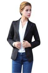 Azone European Style OL Wear To Work Stylish Suit Jacket Coat (Black)