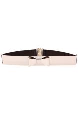 Azone Fashion Women's Sequined Elastic Belts Metal Belt (Coffee)