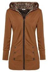 AZONE Meaneor Stylish Ladies Women Casual Long Sleeve Solid Pocket Zipper Hoodie Sweatershirt Leisure Coat Outwear