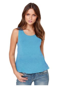Azone Summer Casual Blouse Tops With Bow (Sky Blue)