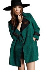 AZONE Women Casual Large Lapel Neck Long Sleeve Jacket (Green) (Intl)