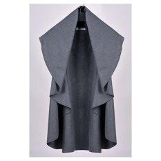 AZONE Women's Wool Shawl Poncho Wrap Scarves Coat (Dark Gray)