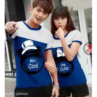 Baju Couple / Kaos Couple / Baju Pasangan / Soulmate CP MR COOL MR CUTE Blue