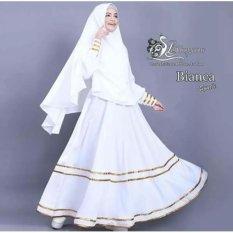 Baju Gamis / Baju Muslim Bianca Syari'i White