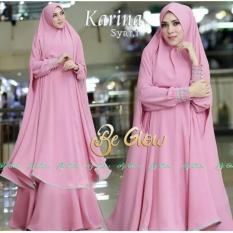 Baju Gamis / Baju Muslim Karina Syar'i Pink DW