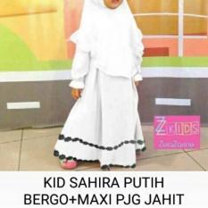 Baju Gamis Muslim Anak Perempuan Dress Eksyen Garis Lekuk Vertikal