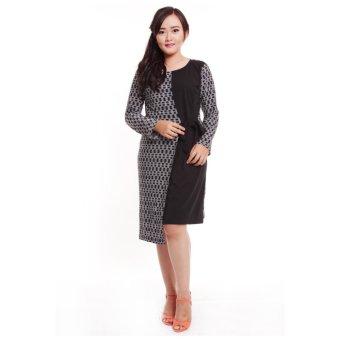 Baju Island Tara Dress Hamil & Menyusui Long Sleeve [Black]