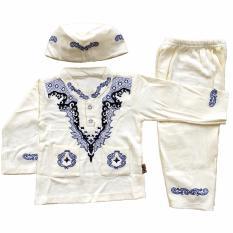 Baju Muslim Koko (6-12 Bulan) Anak Bayi Laki-Laki Setelan Set Peci DD2
