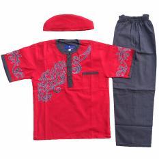 Baju Muslim Koko Anak Laki-Laki Stelan Setelan Set Peci PT5-2