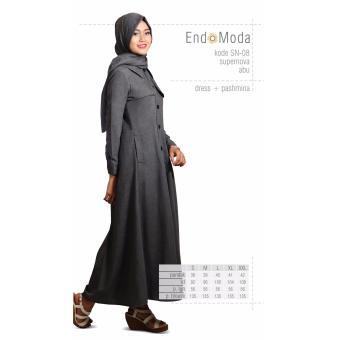 Baju Original Endo Moda SN-08 Dress Wanita Baju Muslim Modern Gamis Katun  Supernova Premium af31cddd67