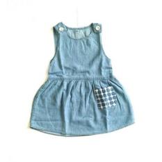 baju over all anak perempuan jens warna blue