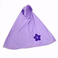 Baju Yuli Jilbab Anak 2 Bunga Lucu Warna Ungu Muda