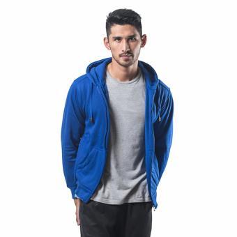 Bajukitaindonesia Jaket Hoodie Zipper Polos BIRUBENHUR - M-XL
