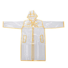 Bang Women Eva Hooded Transparent Rain Coat (Short-Yellow)