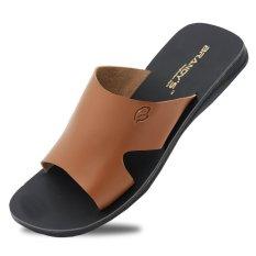 Baroon Sandal Kulit Pria - Coklat