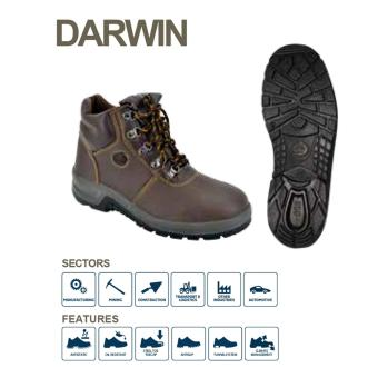 Bata Industrial DARWIN Safety Shoes - Brown