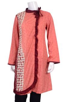 Batik Arjunaweda Sackdress Wanita - Kawung - Merah