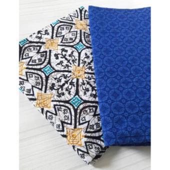 Batik Kawung Besar Set Emboss Biru