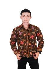 Batik Putri Ayu Batik Kemeja Kode KPJ13 Versi D Cokelat