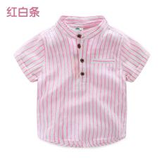 Bayi tx-7010 Korea Fashion Style baru anak-anak lengan pendek kemeja vertikal kemeja