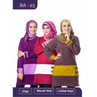 Believe Blouse Atasan BA-03 Kaos Wanita Baju Muslim Tunik Kemeja Kaos Merah