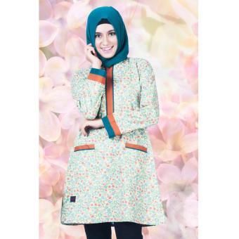 Believe Blouse Atasan BA-07 Kaos Wanita Baju Muslim Tunik Kemeja Kaos Hijau
