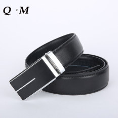 Belts For Men Genuine Leather Belt Cowskin Automatic Buckle Belt Man Cowhide Leather Men Belt Designer Luxury Famous Men's Strap - Intl