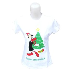 Bertu Woman T-Shirt Olive Merry Christmas - Putih