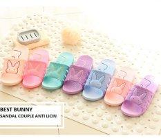 Best Bunny Sandal Rumah anti licin - Merah