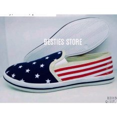 Besties NewYork Flat Slip On Sepatu Fashion
