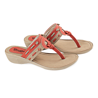 Blackkelly Sandal Teplek Peaches LFS 635 - Coklat Orange