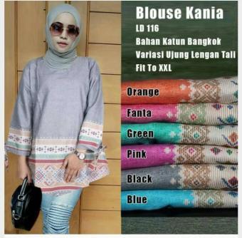 Harga Blouse Cotton Tunic Kania Brown - PriceNia.com f562daf3f0