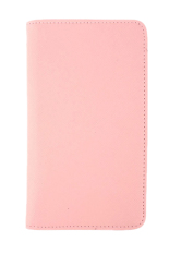 Bluelans Faux Leather Travel Passport Holder Wallet ID Card Organizer Case Cover Pink