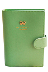 Bluelans Passport Holder Cover Ticket Card Case Bowknot PU Leather Travel Wallet Green