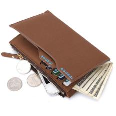 BOGESI Men Pria Wallet With phone and Coin Bag Man Purse Color - Cokelat
