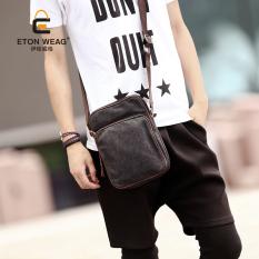 Brand Design Men's Handbag Men Canvas Bag Single Shoulder Bag Leisure Crossbody Bag Outdoors Fashion Small Bag Men Backpack -Blue