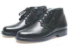 BSM Soga BPA 220 Sepatu Formal Boots / Kerja Pria Kulit Asli - Elegan - Hitam