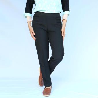 Gudang Fashion Celana Bahan Wanita Untuk Kerja Hitam Katalog Harga Source · Bunda Wulan Celana Bahan Kerja Wanita Pinggang Karet Hitam