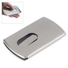 Business Card Holder Stainless Steel Pocket ID Credit Card Holder Case Men