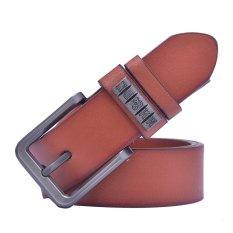 Business Classic Pin Buckle PU Leather Belt For Men (Brown) - INTL